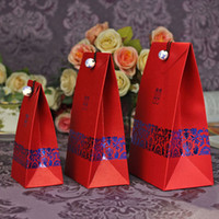 Wholesale Wedding favor boxes gift paper bags candy boxes Red China style wedding candy box