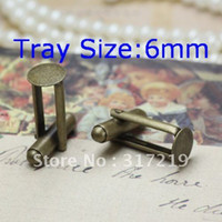 Wholesale 100Pcs Antique Bronze French Cufflink Blank mm Pad Tray Cufflink Setting findings PERFECT for DIY Designs