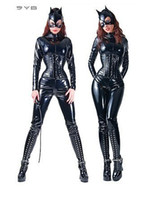 Women catsuit - sexy PVC rubber lingerie leather catsuit Catwoman Costume SIZE M UK8 F031