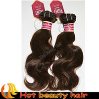 Wholesale 16pcs quot quot Wavy Indian Hair weft Treated Human hair Extension Color1b