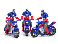 Wholesale Superhero quot Captain America In Motorcycle Action PVC Figure Toys Movie Avengers Figures