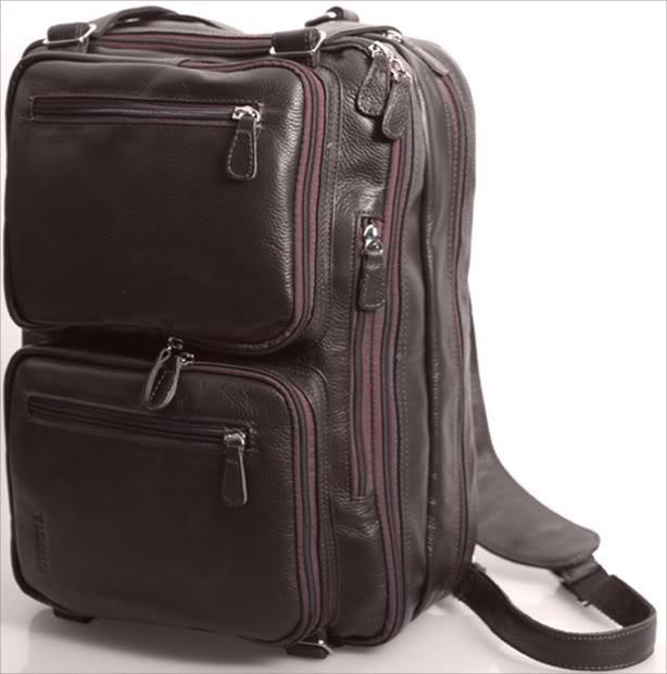 Brown Mens Genuine Real Bull Leather Backpack Shoulders Bag Tote ...