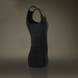 Wholesale 120pcs Mens Slimming Vest Shirt Body Shaper Fatty Lose Weight OPP bag
