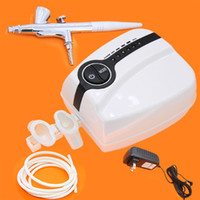 brand new airbrush kit compressor - Por Makeup Mini tattoo Compressor Airbrush Airhouse Foothold Plug kit Airpump PH A1001 for glitter tattoo kits supplies