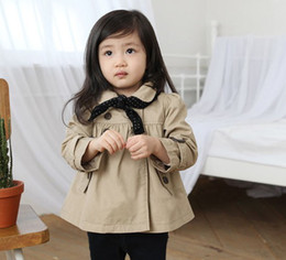 Wholesale Girl s outerwear Girl s Windproof coat Sweater jacket Girl s Windproof with bowknot