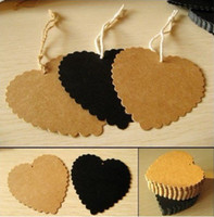 Wholesale Kraft paper tag Bookmarks Message card Mood card cm cm freeshipping Color Not include Rope