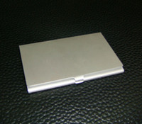 metal business card case - 10PCS ALUMINUM CARD HOLDER METAL ALLOY POCKET BUSINESS ID CREDIT CASE