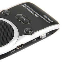 Wholesale Solar Powered Handsfree Bluetooth Car Kit Speaker for Mobile Cellphones without LCD display