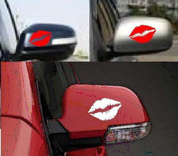 Wholesale car-styling Red Lip Funny Car Decals Stickers 10*5cm Car Window Decals Kiss Mark Lips Car Decal   Sticker