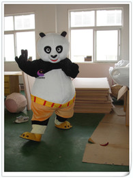 Wholesale Kongfu panda Mascot Costume Free ems shipping New Year Christmas Halloween