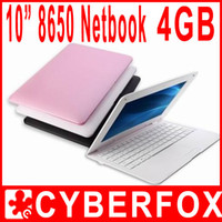 Wholesale 10 inch Mini Laptop Netbook computer Android VIA mini Camera WIFI G Resistance Screen