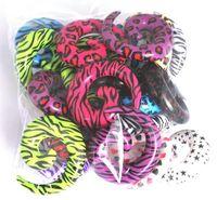 Wholesale Acrylic Swirl Spiral Print Ear Plug Ear Expander MIX Color Size Free