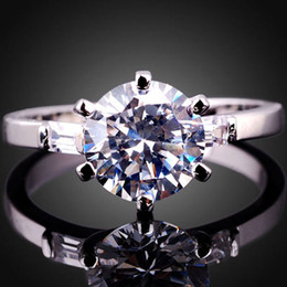 Women'S Round Cut Simulated Diamond Nal Real S925 Sterling Silver Ring R017