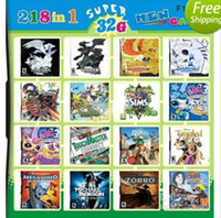 Wholesale 218 in Games in one Game card Multi Games For DSi XL DSL DS Console