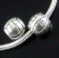 Wholesale In Stock Volleyball Spacer Beads Fit Charm Bracelet