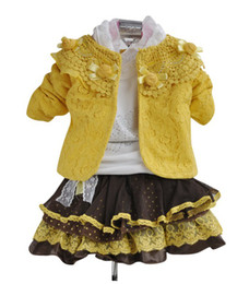 Wholesale Hot sale spring and autumn and the lovely girl skirt suits children suit