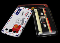 Wholesale 100pcs OLD Cassette Tape Hard Plastic Case Cover for Samsung Galaxy S3 III i9300