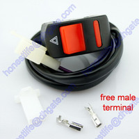 Wholesale Universal Handlebar A Motorcycle Accident Hazard Light Switch ON OFF Button