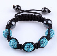 Wholesale Cute Kids Gift mm Pave Disco Crystal Beads Knit Craft Adjustable Children Bracelet Box