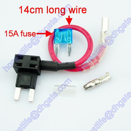 Wholesale 15A ATS ACS Mini Blade Fuse Tap Holder Add A Circuit Line Car Truck RV Van Boat