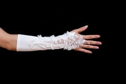 Wholesale Newest Gorgeous exquisite Fashion ivory Applique Bridal Accessories Bridal Gloves Wedding Gloves