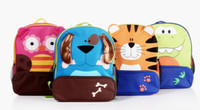 Wholesale 6pcs designs New Cartoon Children Backpacks Pupils Schoolbag Cute Satchel Zoo Backpacks