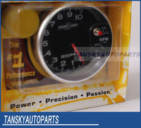 Wholesale SPORT COMP II quot SHIFT LIGHT TACHOMETER R Tachometer auto gauge