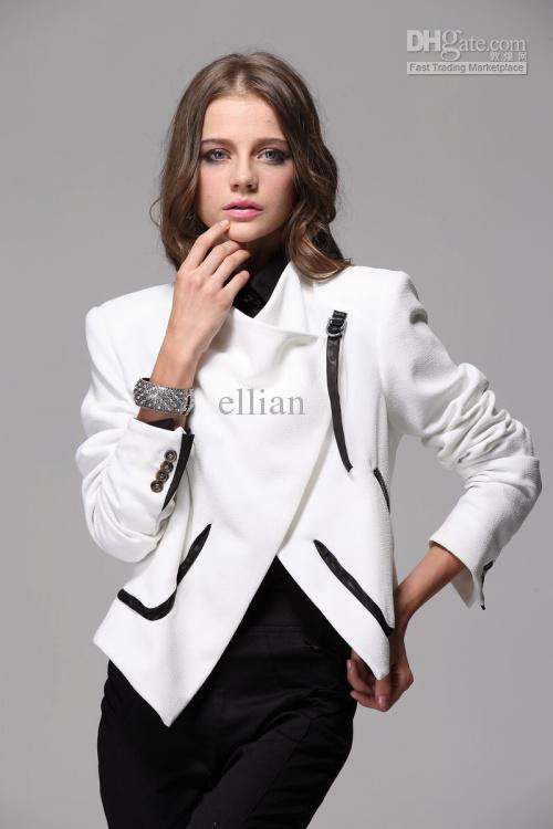 2017 2012 New Fashion Women Jacket Suit Sheep Skin White Jacket ...