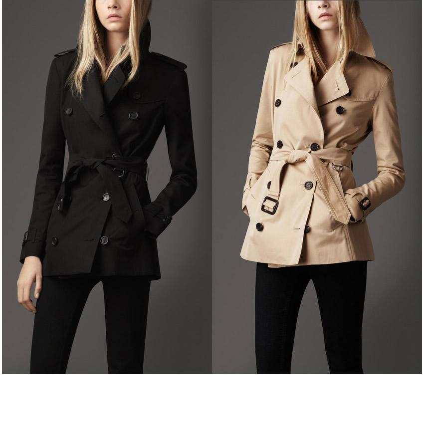 Black Womens Trench Coat Photo Album - Reikian