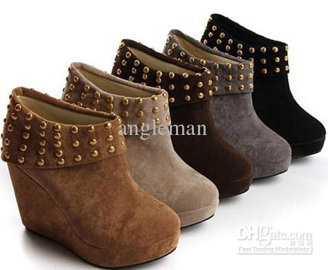 Fashion Large Size 12 Boots Fashion Womens Shoes Rivets Studs ...
