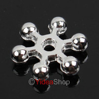 Wholesale 600pcs Plated Silver Flower Charms Spacers Beads Fit Jewelry Accessories DIY