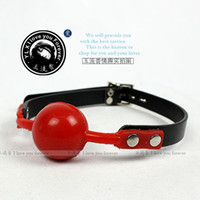 Wholesale Sex product open mouth bondage Hole red Pectin ball gag passion flirting BDSM mouth gags sex toys