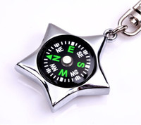 Wholesale Outdoor Travel Climb Compass Keychain Metal MINI Compass fashion keychain