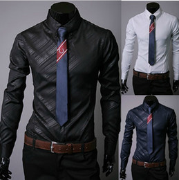 Wholesale NEW men s clothes Men s Casual Slim shirts fashion Twill long sleeve Men s shirts mens shirts