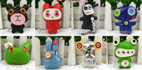 Wholesale Toy For Girls Hang Toy Button Dolls cute cloth doll pu leather creative pendant