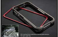 Wholesale 1pcs Blade Bumper with button Metal Aluminum Frame Case blade metal bumper case For IPhone GS