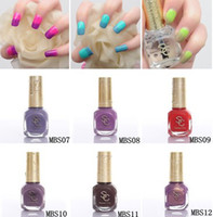 Wholesale Sweet Color environmental protection nail polish Temperature change nail polish of ml