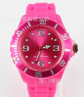 Wholesale Fashion Colors Unisex Colorful Candy Jelly Silicone Watch Ladies Women s Men s Candy Wristwatch