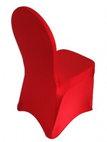 Wholesale 100pcs red spandex banquet chair cover with an arch flat front on feet for hotel party wedding