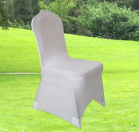 Wholesale High quality white spandex banquet chair cover with an arch on feet for hotel party wedding