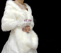 Wholesale winter Fur Long Bridal Wedding Wrap shawl coats bolero