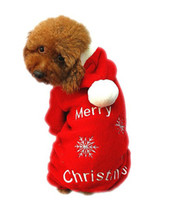 Wholesale Cute Pet Dog Apparel Winter clothes Coat Merry Christmas Clothing Cloth Coat Red Purple