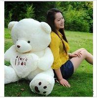 Wholesale I Love You Big Teddy Bear Plush Toy Birthday Gift Girls Plush Toys Stuffed Animals dolls Heart Baby Bear White Beige CM CM CM CM