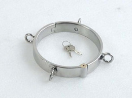 Wholesale New Stainless Steel Neck Collar Ring Chastity Belt SM product Hand polished SM25