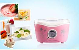 Wholesale Automatic Yogurt Maker Machine Yogurt Sour Milk Household Maker pink flower V7067