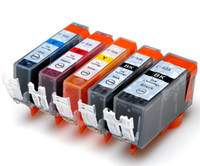 Wholesale 5 ink set cartridge for Canon IP4800 IX6250 MG5150 MG5200 MG5250 MX882 PGI BK CLI