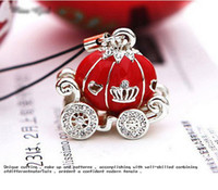 Wholesale Silver Plated Cinderella s Pumpkin Gharry Phone Chain key holder unisex