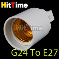 Wholesale 20Pcs G24 to E27 Base LED Light Lamp Bulbs Adapter Converter New Practical Durable