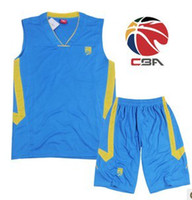 Wholesale Made In China CBA Basketball Jerseys for Youth Blue