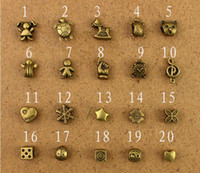 Wholesale DIY Handmade Zakka Antique Brass Finding Accessories Charm Jewelry Fit for Necklace Bracelet Beads